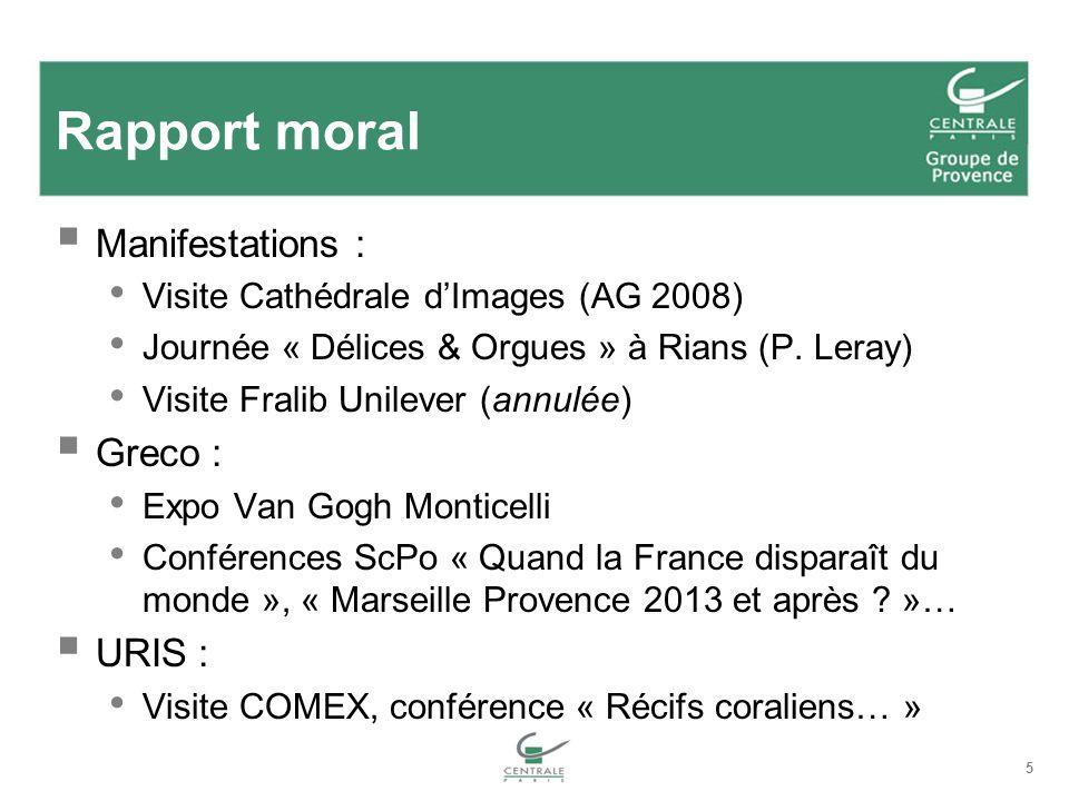 Rapport moral Manifestations : Greco : URIS :