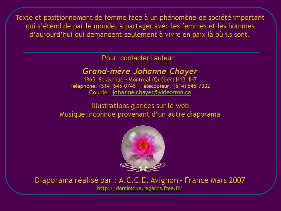 Grand-mère Johanne Chayer
