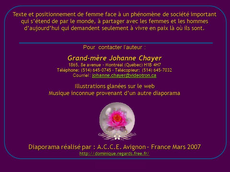 Grand-mère Johanne Chayer