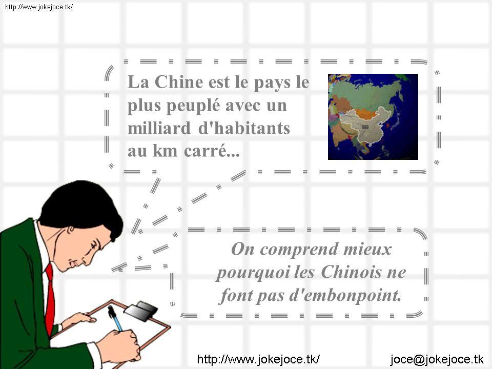 On comprend mieux pourquoi les Chinois ne font pas d embonpoint.