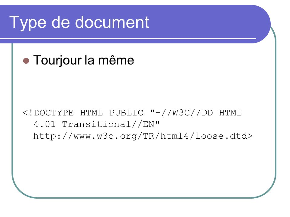Type de document Tourjour la même