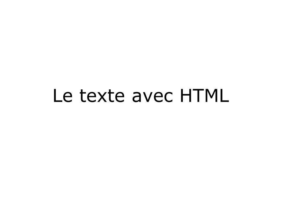 Le texte avec HTML