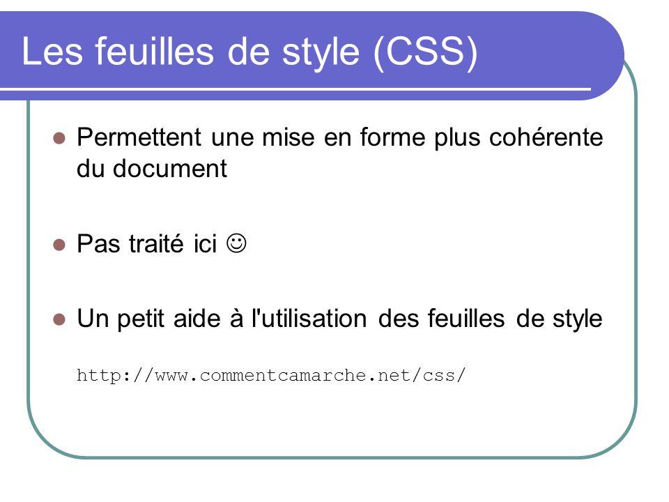 Les feuilles de style (CSS)
