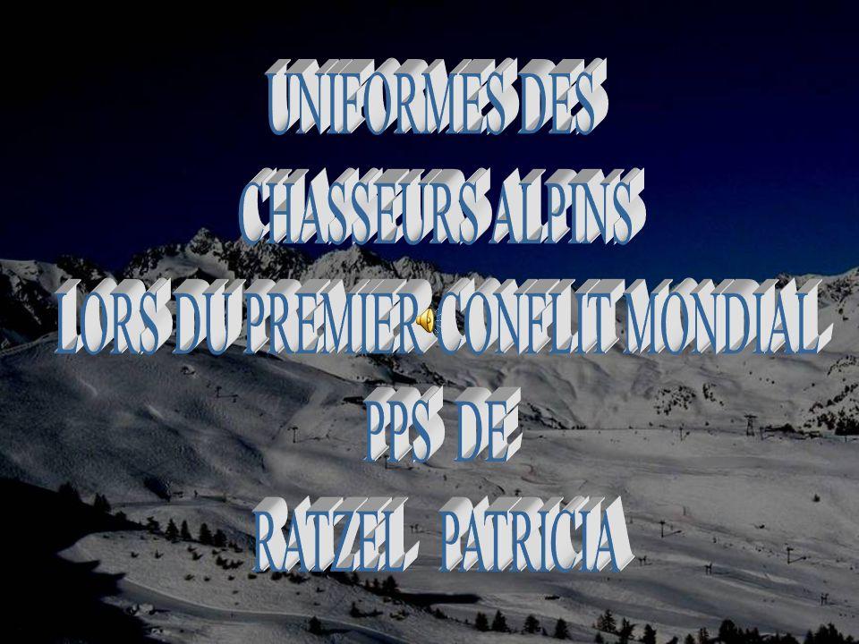 UNIFORMES DES CHASSEURS ALPINS LORS DU PREMIER CONFLIT MONDIAL PPS DE