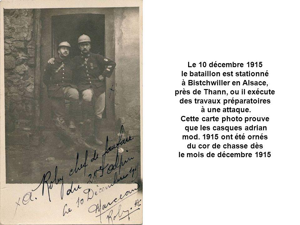 le bataillon est stationné à Bistchwiller en Alsace,