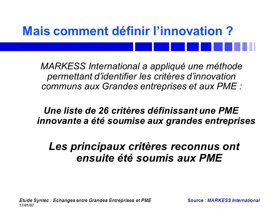 Mais comment définir l'innovation