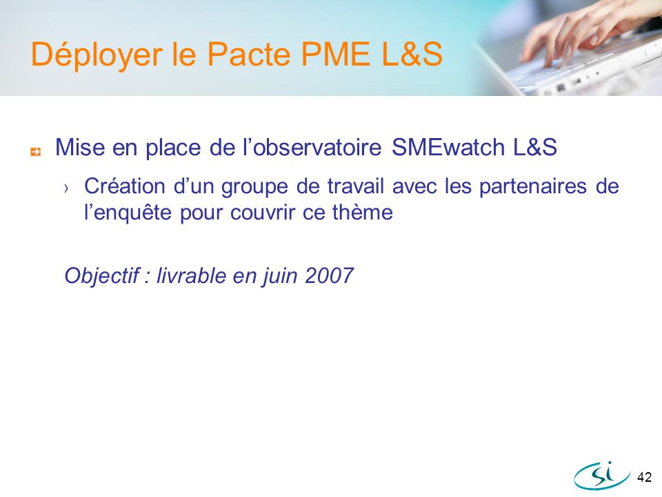 Déployer le Pacte PME L&S