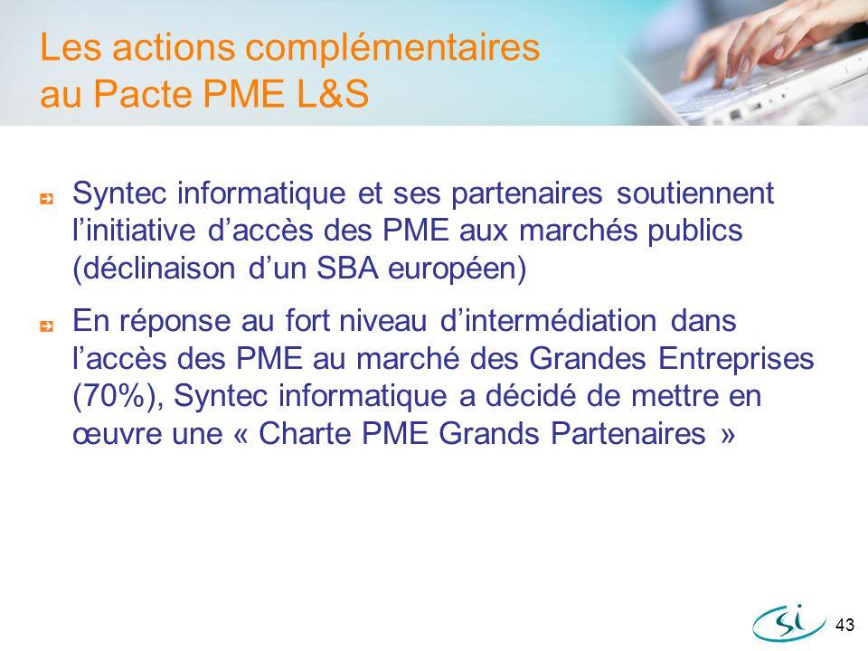 Les actions complémentaires au Pacte PME L&S