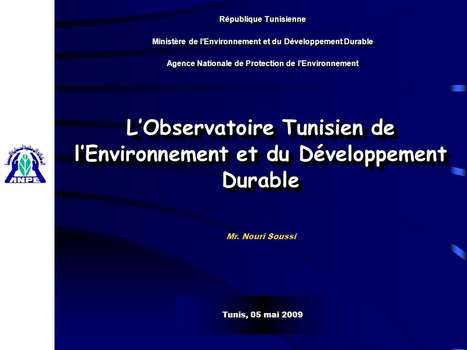 L'Observatoire Tunisien de l'Environnement et du Développement Durable