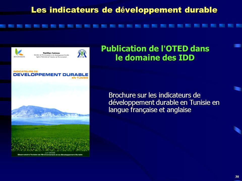 Les indicateurs de développement durable