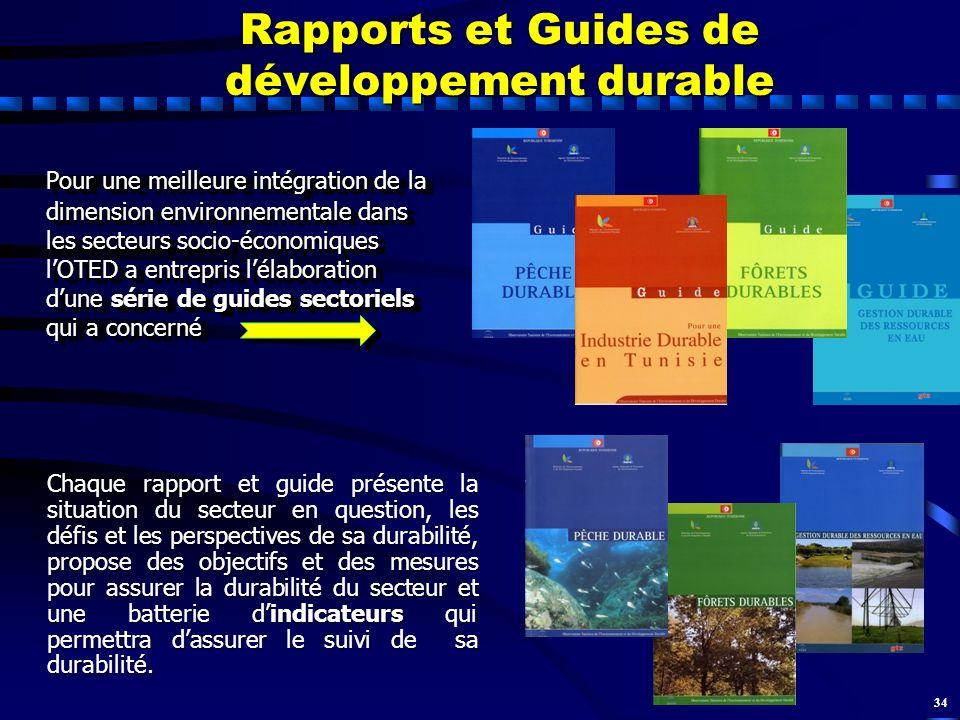 Rapports et Guides de développement durable