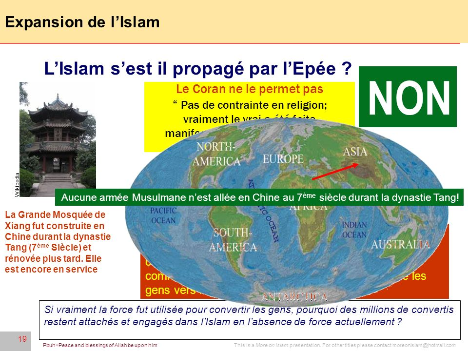 NON L'Islam s'est il propagé par l'Epée Expansion de l'Islam