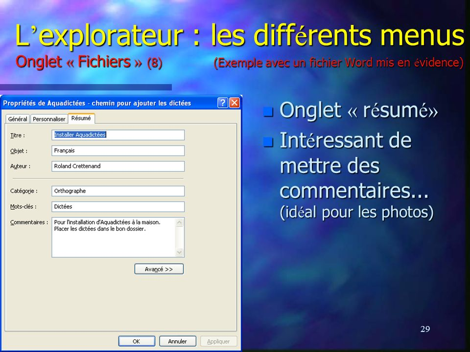 cours informatique 3  windows xp