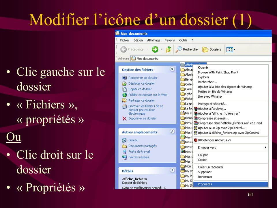 Modifier l'icône d'un dossier (1)