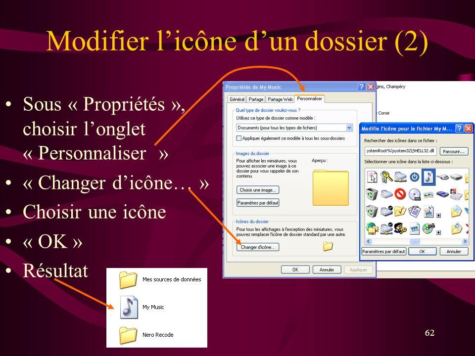 Modifier l'icône d'un dossier (2)