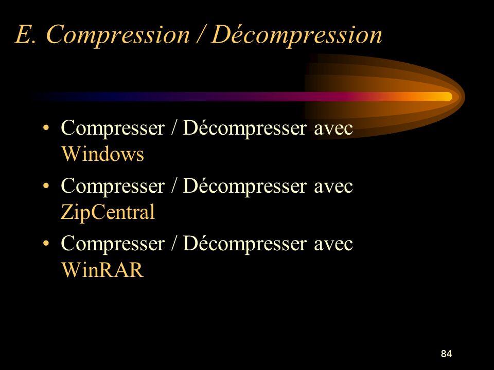 E. Compression / Décompression