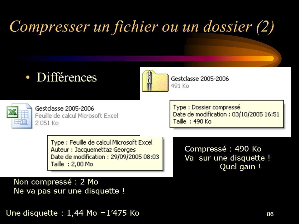 Compresser un fichier ou un dossier (2)