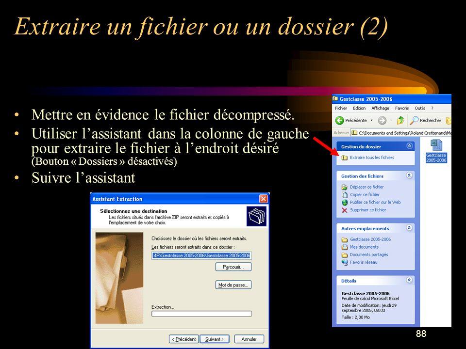 Extraire un fichier ou un dossier (2)