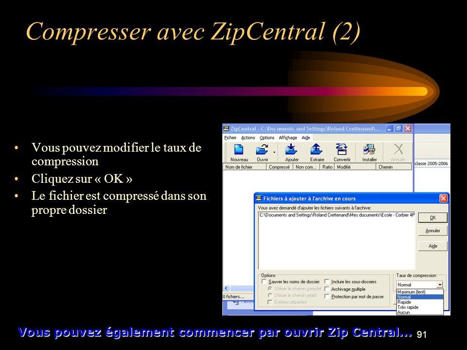Compresser avec ZipCentral (2)