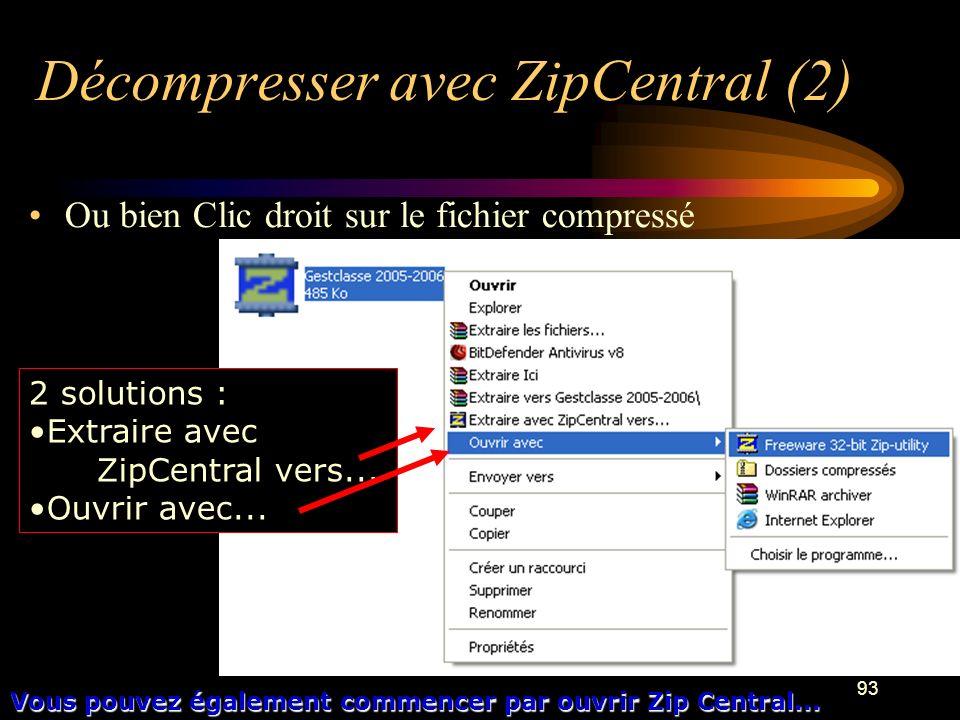 Décompresser avec ZipCentral (2)