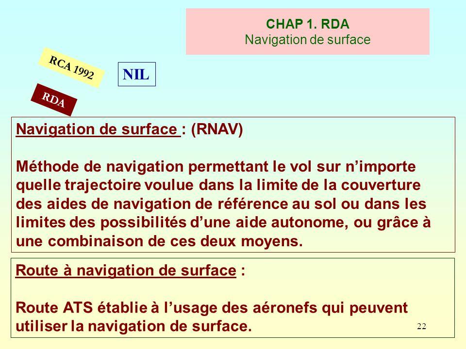 CHAP 1. RDA Navigation de surface