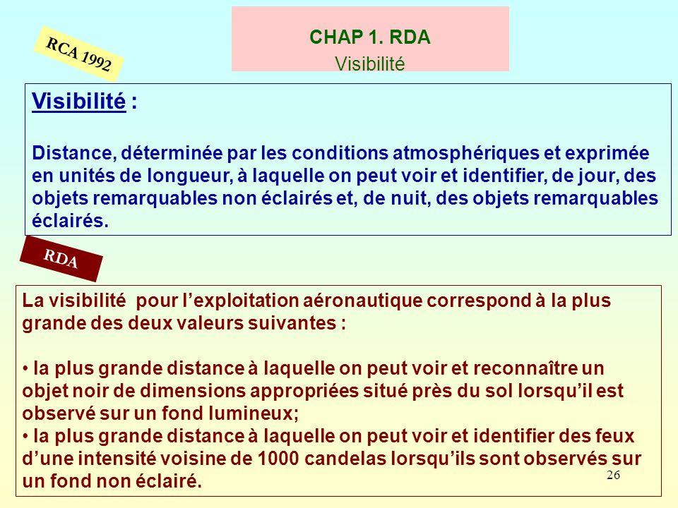 Visibilité : CHAP 1. RDA Visibilité