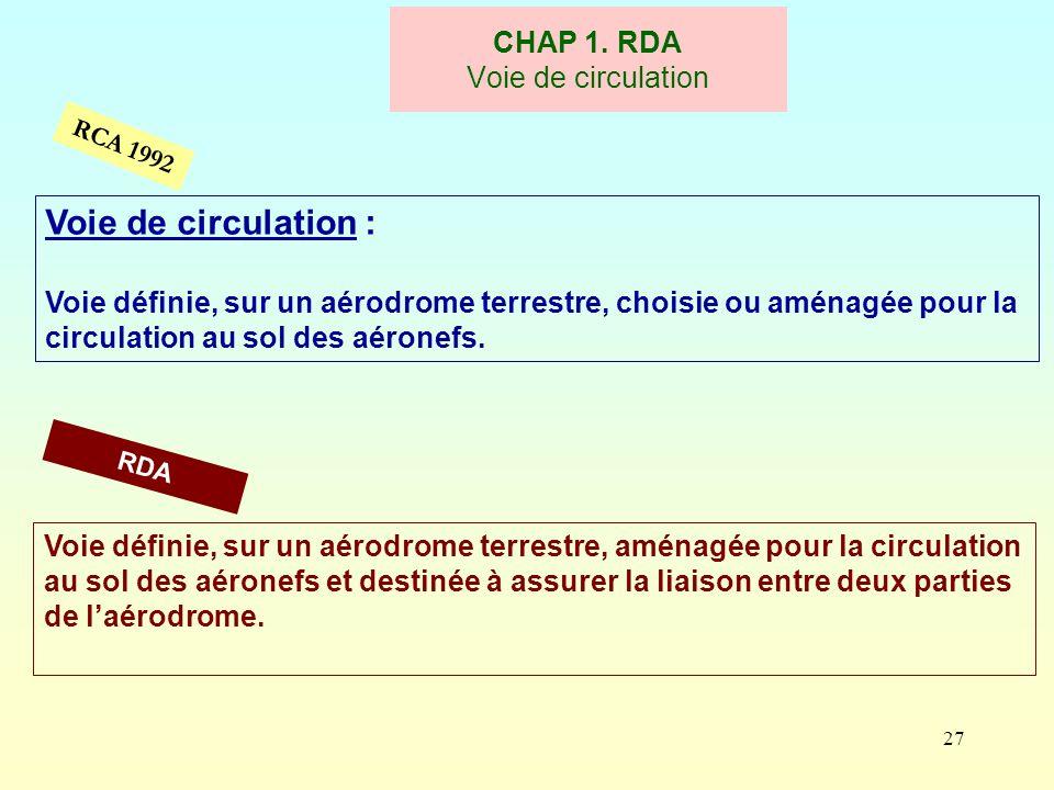 CHAP 1. RDA Voie de circulation