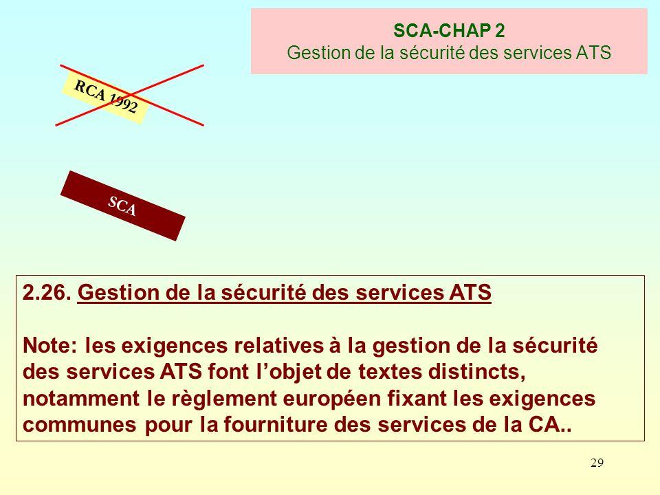 SCA-CHAP 2 Gestion de la sécurité des services ATS