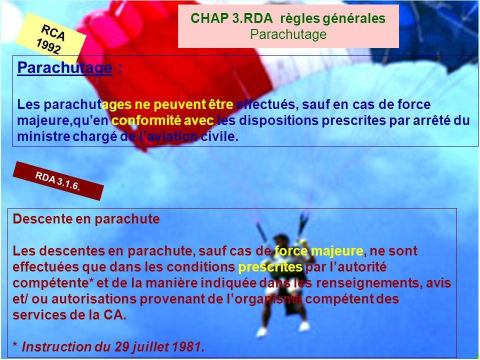 CHAP 3.RDA règles générales Parachutage