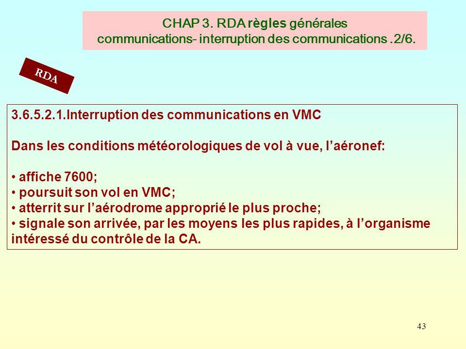 3.6.5.2.1.Interruption des communications en VMC