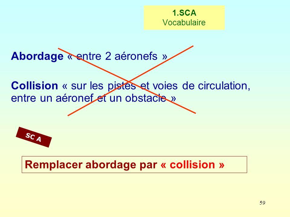 Abordage « entre 2 aéronefs »