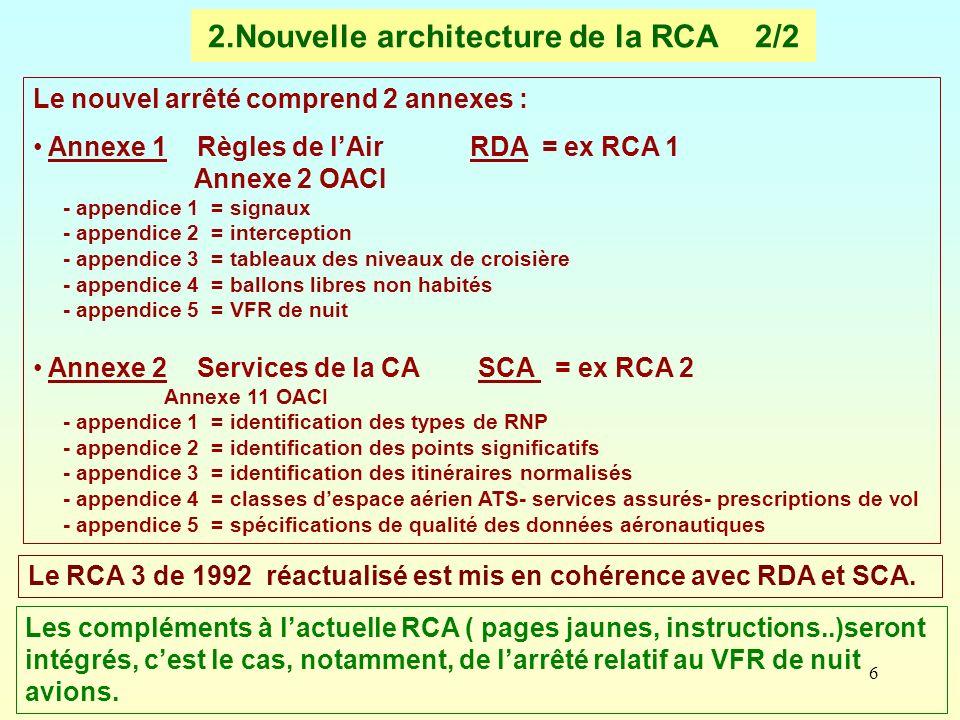 2.Nouvelle architecture de la RCA 2/2