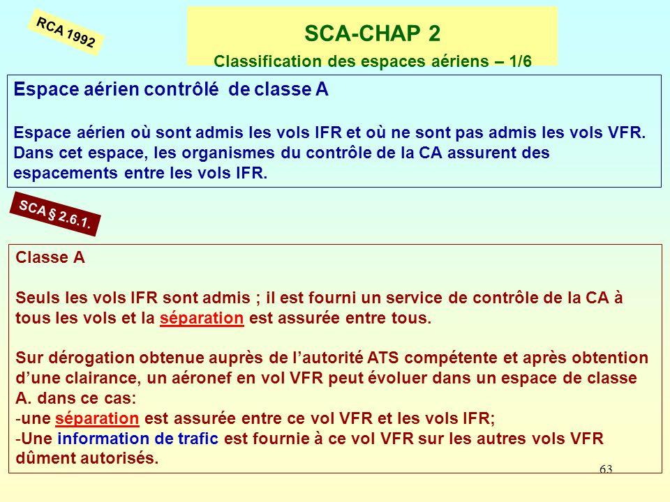 SCA-CHAP 2 Classification des espaces aériens – 1/6
