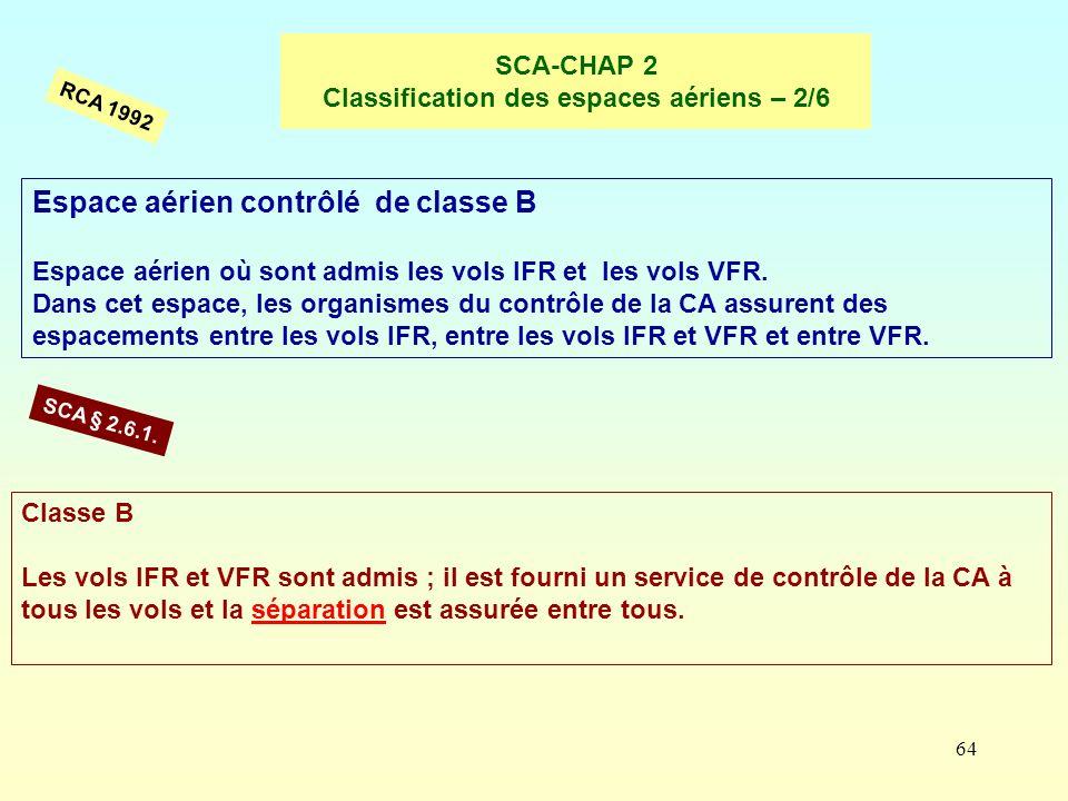 SCA-CHAP 2 Classification des espaces aériens – 2/6