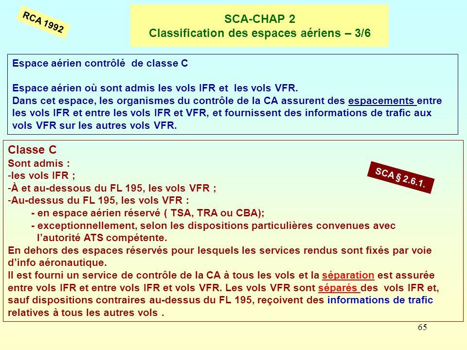 SCA-CHAP 2 Classification des espaces aériens – 3/6