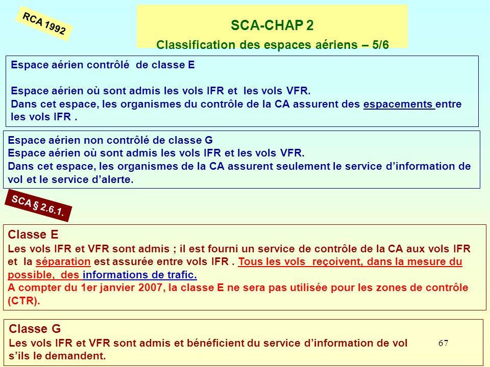 SCA-CHAP 2 Classification des espaces aériens – 5/6