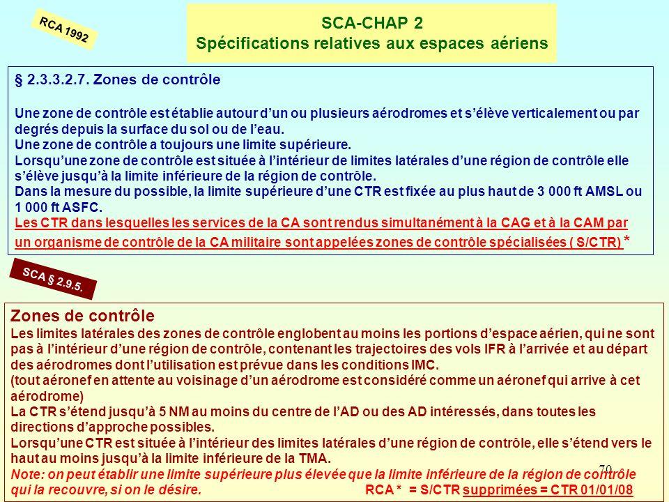 SCA-CHAP 2 Spécifications relatives aux espaces aériens