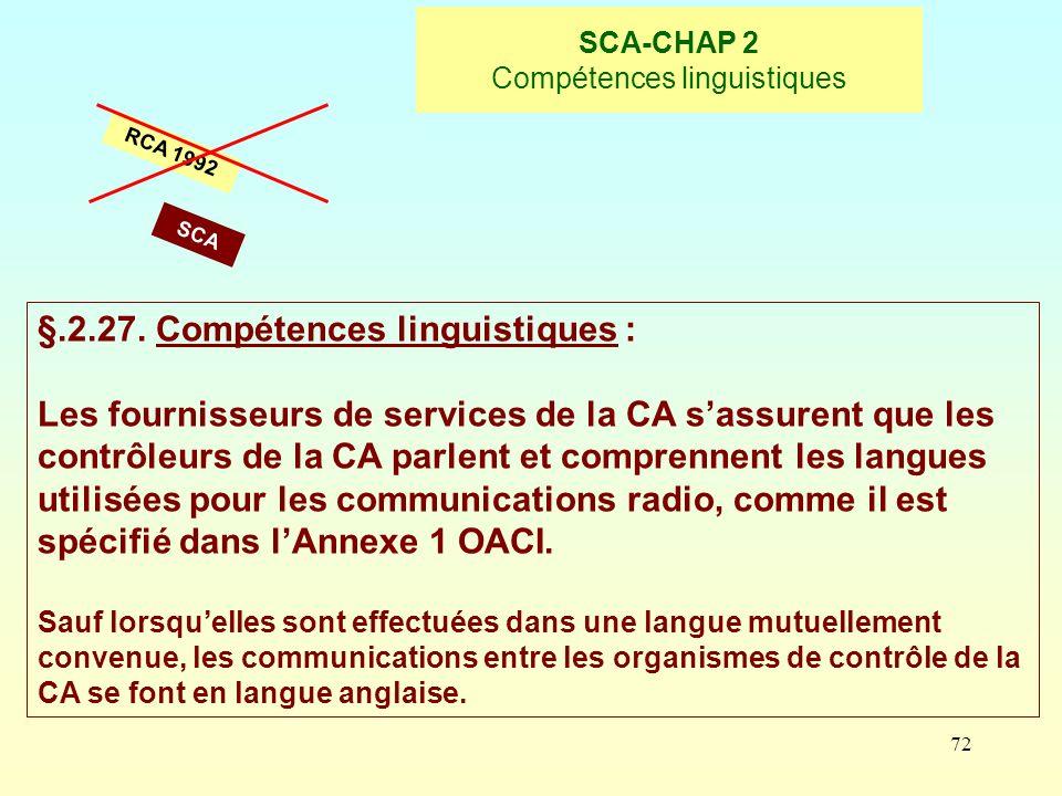 SCA-CHAP 2 Compétences linguistiques