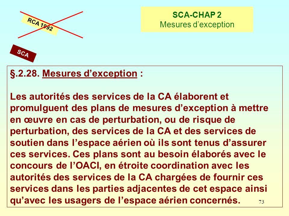 SCA-CHAP 2 Mesures d'exception