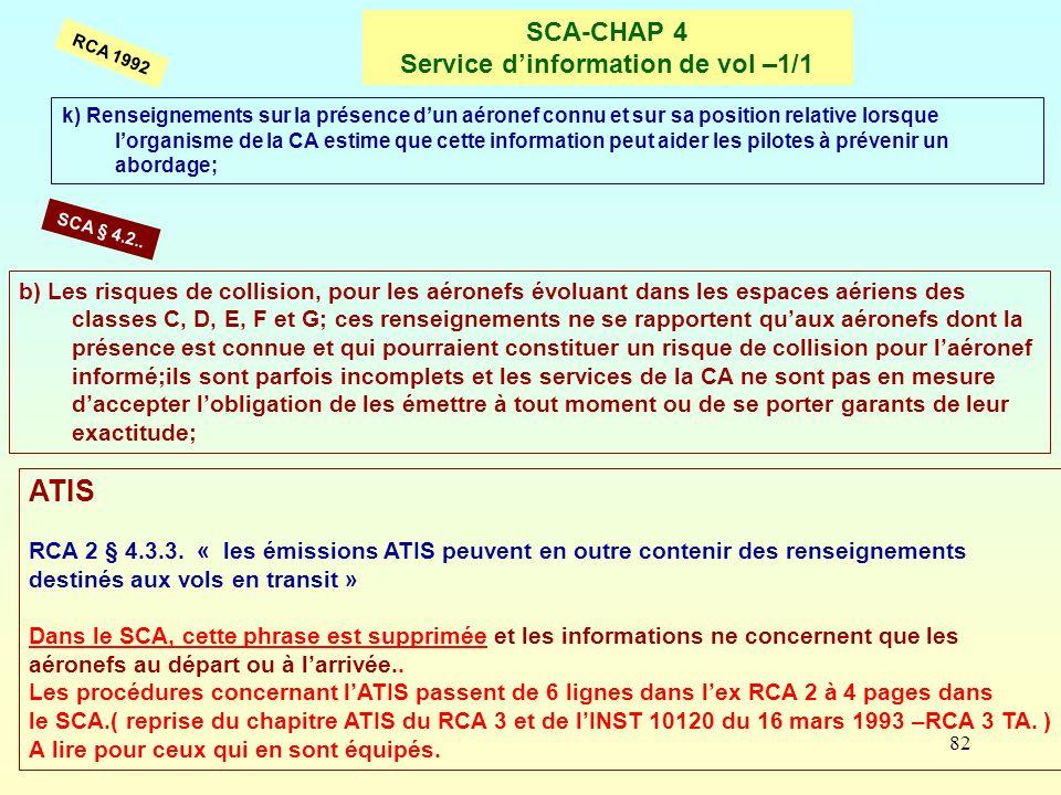 SCA-CHAP 4 Service d'information de vol –1/1