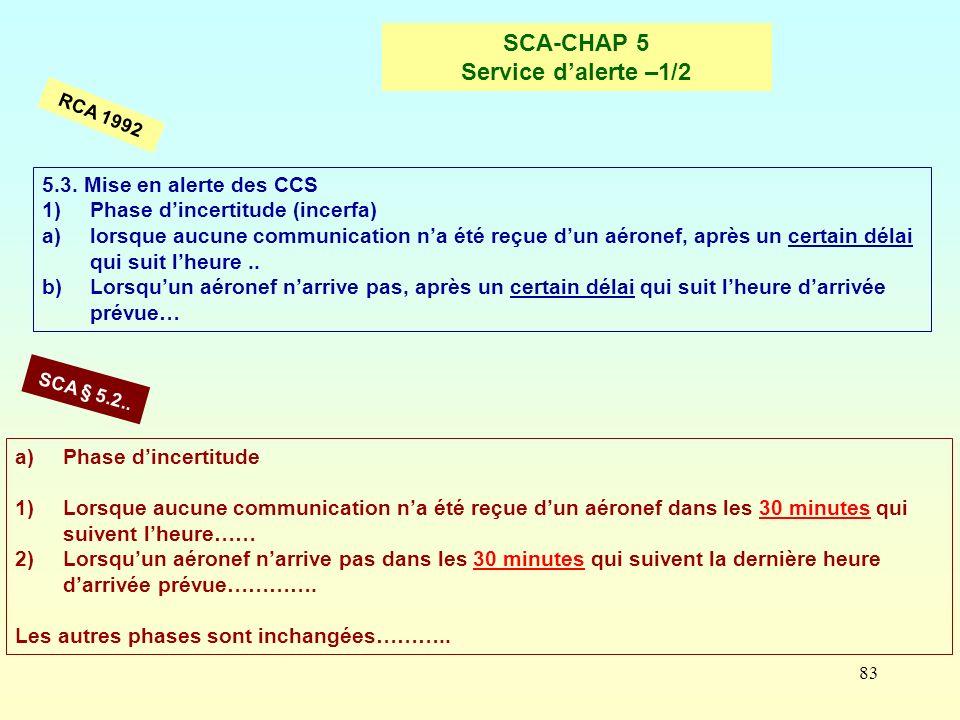 SCA-CHAP 5 Service d'alerte –1/2