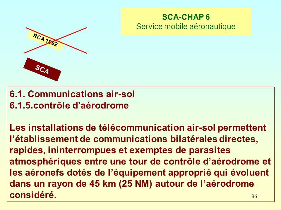 SCA-CHAP 6 Service mobile aéronautique