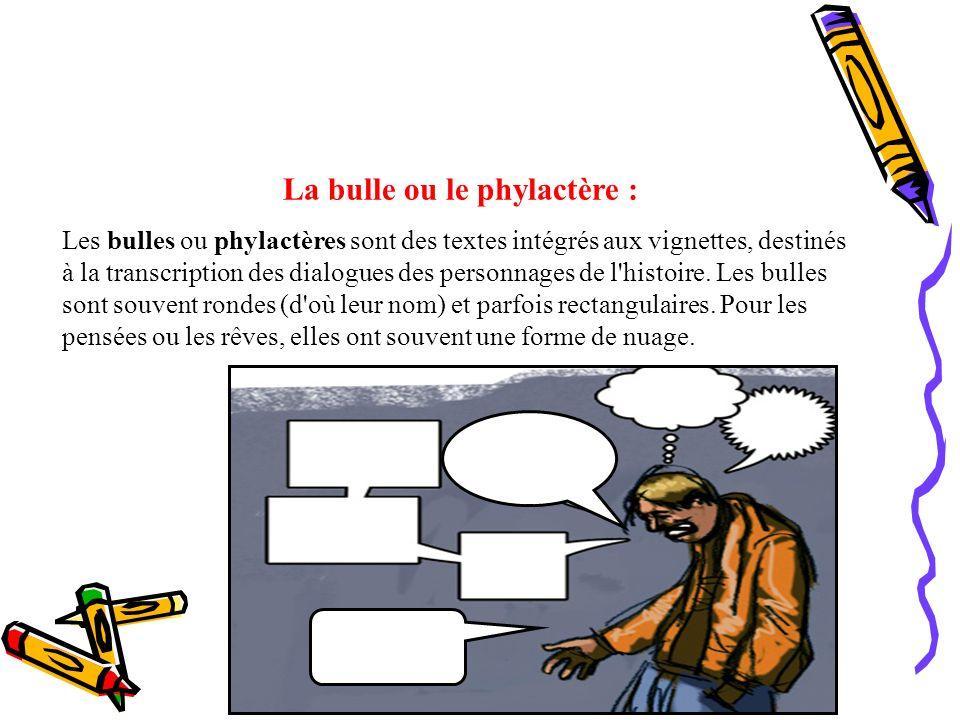 La bulle ou le phylactère :