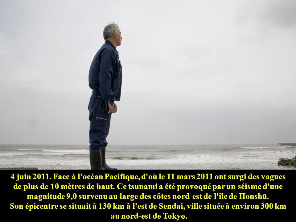 4 juin 2011. Face à l océan Pacifique, d où le 11 mars 2011 ont surgi des vagues de plus de 10 mètres de haut.