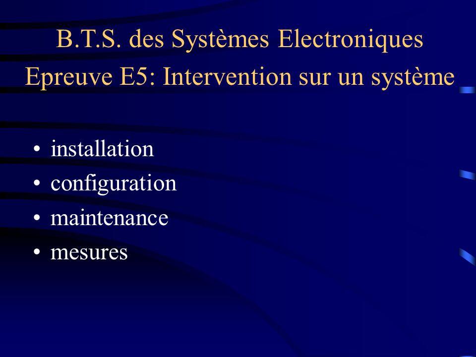B.T.S. des Systèmes Electroniques
