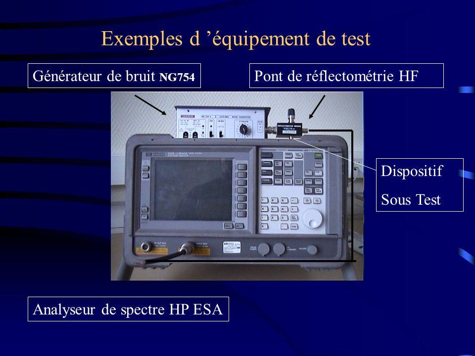 Exemples d 'équipement de test