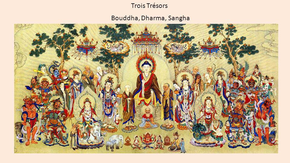 Trois Trésors Bouddha, Dharma, Sangha