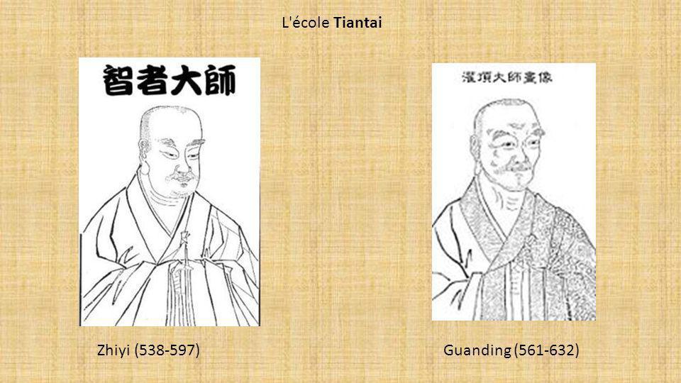 L école Tiantai Zhiyi (538-597) Guanding (561-632)