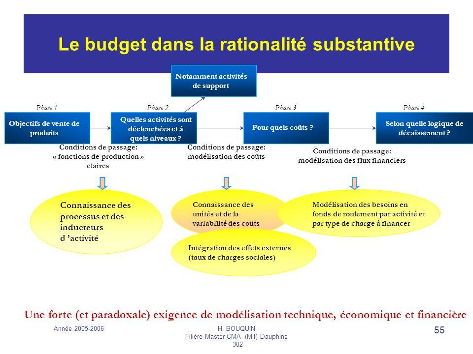 Le budget dans la rationalité substantive