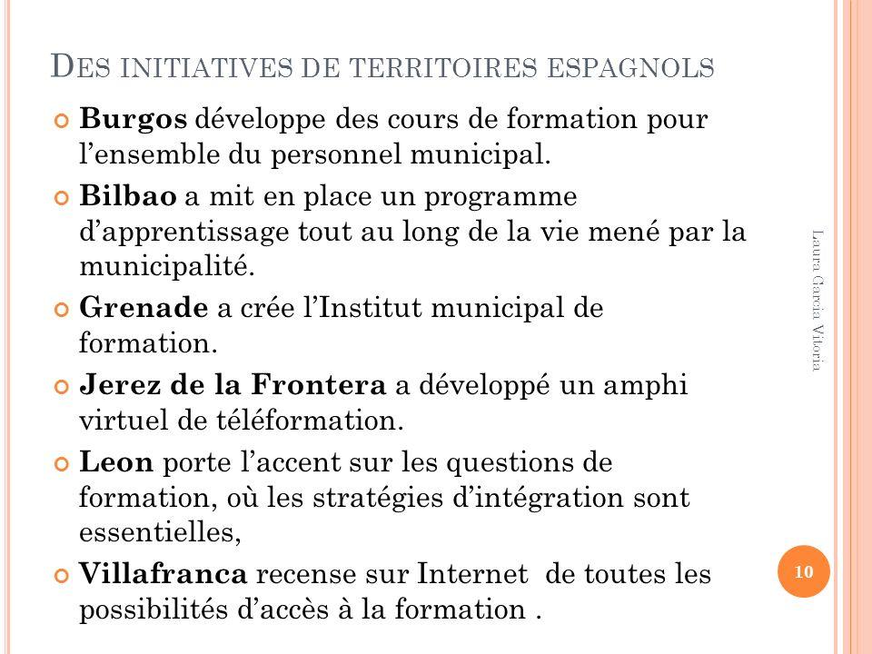 Des initiatives de territoires espagnols
